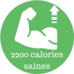 2200 calories saines
