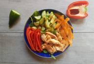 Diner - Salade au Poulet et Crudites